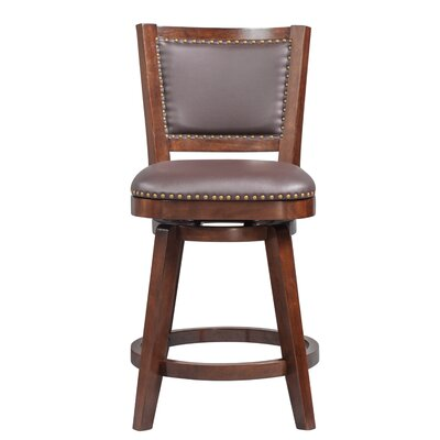 Cammy Traditional Swivel Bar Stool Color: Cappuccino