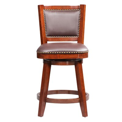 Cammy Traditional Swivel Bar Stool Color: Cherry