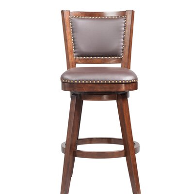 Cammy Swivel Solid Rubberwood Bar Stool Color: Cappuccino