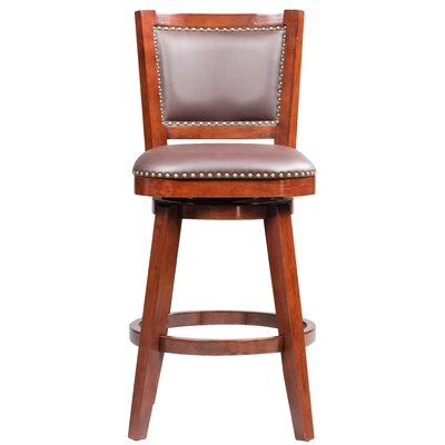 Cammy Swivel Solid Rubberwood Bar Stool Color: Cherry