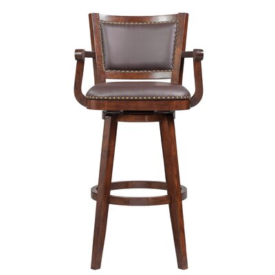 Cammy Swivel Bar Stool Color: Cappuccino