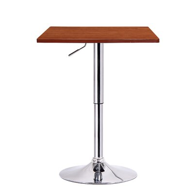 Luta Adjustable Height Pub Table Finish: Walnut