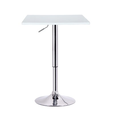 Luta Adjustable Height Pub Table Finish: White