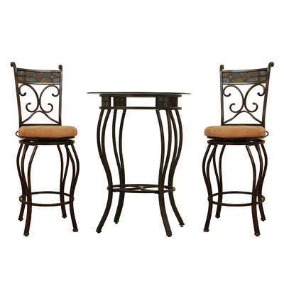 Beau 3 Piece Pub Table Set