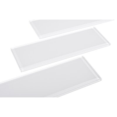 Individual 4 x 12 Glass Subway Tile in White