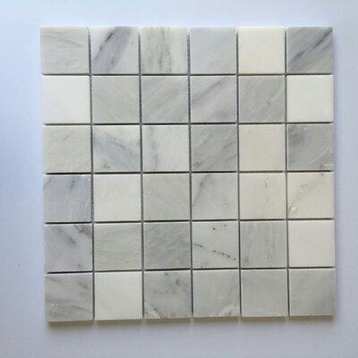 2 x 2 Marble Mosaic Tile in Oriental White