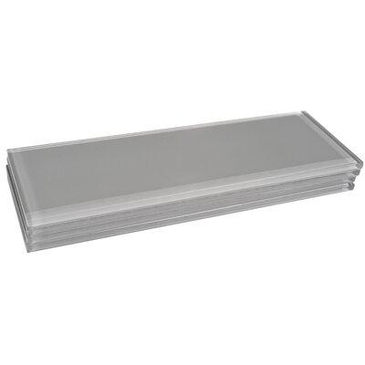Premium Series Individual 4 x 12 Glass Subway Tile in Dark Gray
