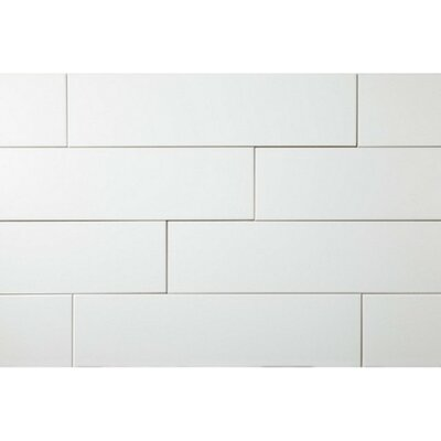 Value Series 4 x 16 Ceramic Subway Tile in Bright Glossy White (Set of 5)