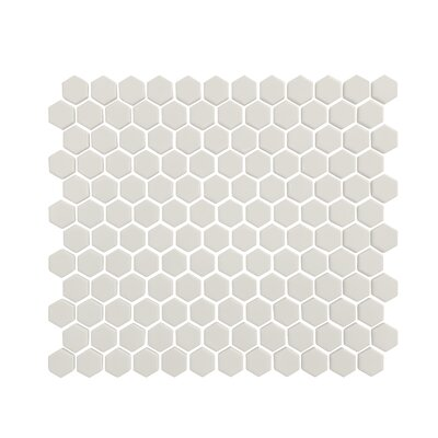 Value Series 1 x 1 Hexagon Porcelain Mosaic Tile in Glossy White