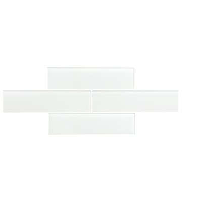 Quality Value Series 3 x 12 Glass Subway Tile in Glossy White