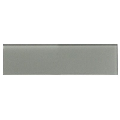 Quality Value Series Individual 3 x 12 Glass Subway Tile in Glossy Dark Gray