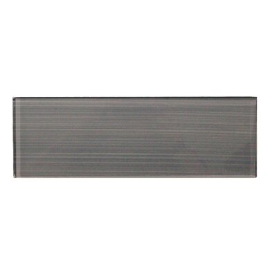 Premium 4 x 12 Hand Painted Glass Subway Tile in Gray
