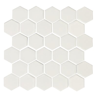Value Series 2 x 2 Hexagon Porcelain Mosaic Tile in Glossy White