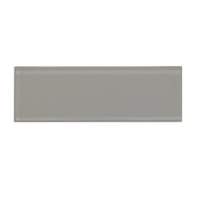 Premium Series 3 x 9 Glass Subway Tile in Dark Gray