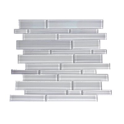 Premium Series Random Sized Glass Mosaic Tile in White