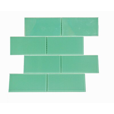 Quality Value Series 3 x 6 Glass Subway Tile in Light Teal
