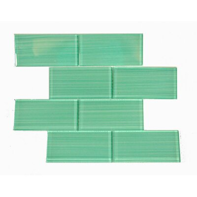 Premium Series 3 x 6 Glass Subway Tile in Light Teal