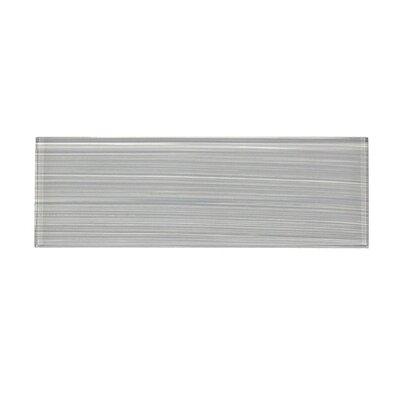 Premium Series 4 x 12 Glass Subway Tile in Soft Gray