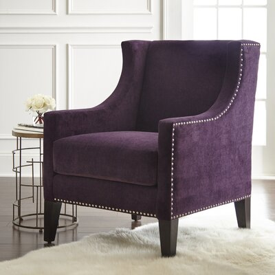 Parker Arm Chair Upholstery: Plum