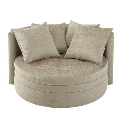 Kennedy Over Sized Barrel Chair Upholstery: Beige