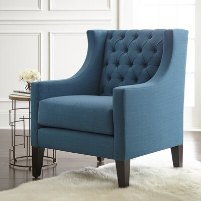 Ellington Wing back Chair Upholstery: Peacock