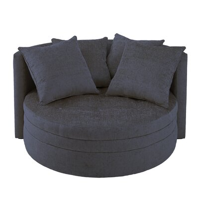 Kennedy Barrel Chair Upholstery: Navy