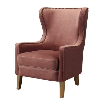 Devon Wingback Chair Upholstery: Rose Pink