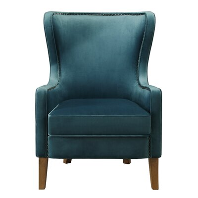 Devon Wingback Chair Upholstery: Teal