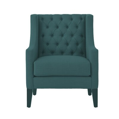 Ellington Wingback Chair Upholstery: Peacock