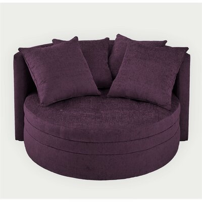 Kennedy Over Sized Barrel Chair Upholstery: Plum