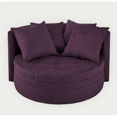 Kennedy Barrel Chair Upholstery: Plum