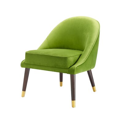 Cora Slipper Chair Upholstery: Green
