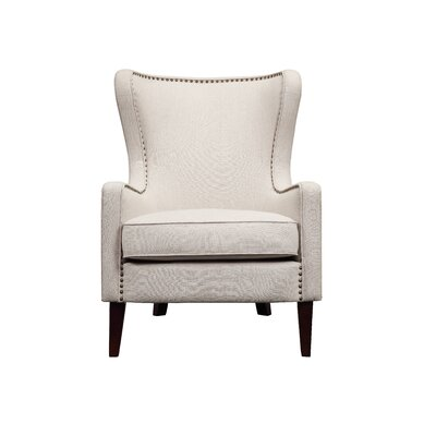 Devon Wingback Chair Upholstery: Natural