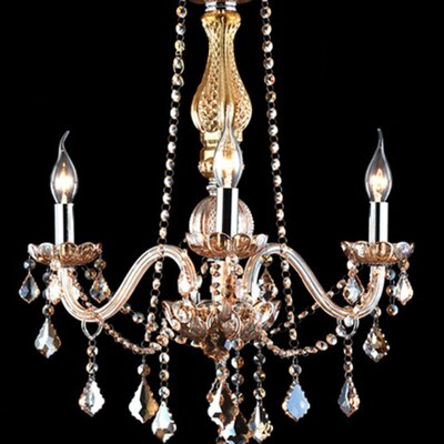 Rain Drop 3-Light LED Crystal Chandelier