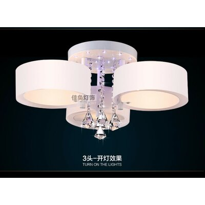 3-Light LED Flush Mount