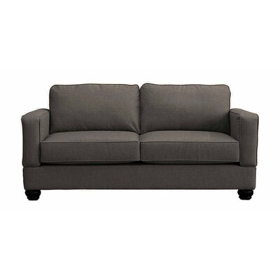 Raleigh Loveseat Upholstery: Charcoal