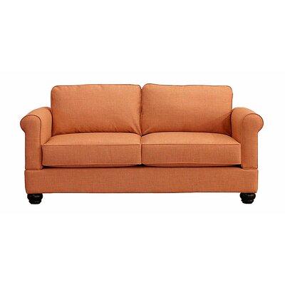 Georgetown Loveseat Upholstery: Orangeade