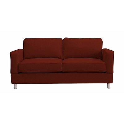 Raleigh Loveseat Upholstery: Red