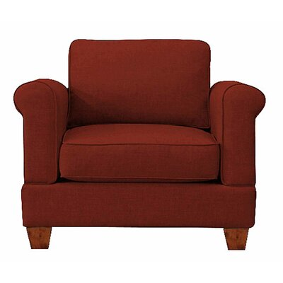 Georgetown Chair and a Half Upholstery: Red