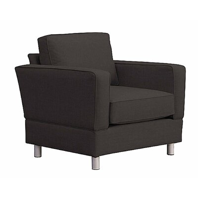 Raleigh Chair and a Half Upholstery: Charcoal