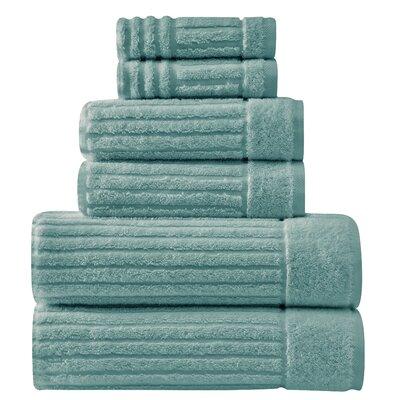 Shimmer Turkish 6 Piece Towel Set Color: Sea Foam