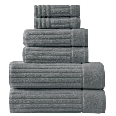 Shimmer Turkish 6 Piece Towel Set Color: Gray