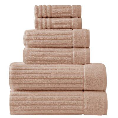 Shimmer Turkish 6 Piece Towel Set Color: Beige