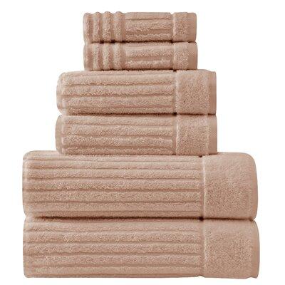 Shimmer 6 Piece Towel Set Color: Beige