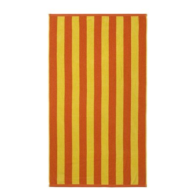 Cabana Striped Beach Towel Color: Orange/Yellow