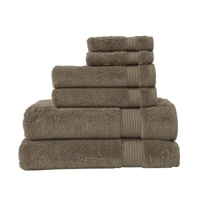 Amadeus 6 Piece Towel Set Color: Sepia Tint
