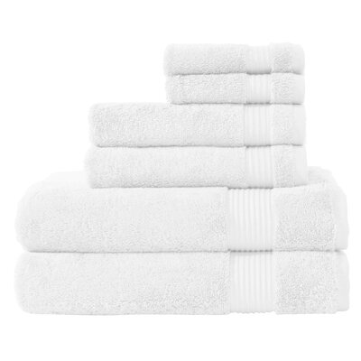 Luxury 6 Piece Towel Set Color: White