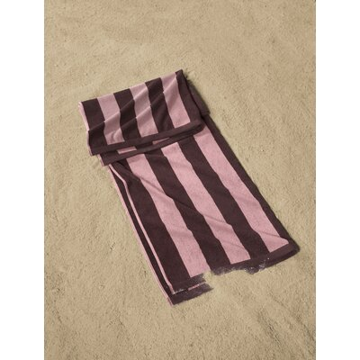 Cabana Striped Beach Towel Color: Plum/Pink