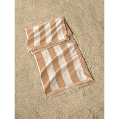 Cabana Striped Beach Towel Color: Orange/White