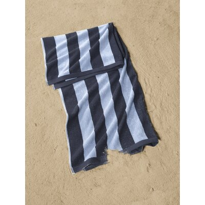 Cabana Striped Beach Towel Color: Navy/Light Blue